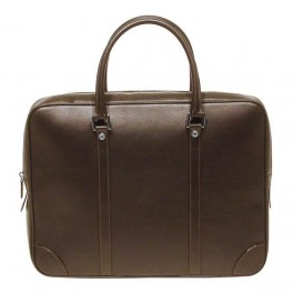Soft and slim top zip leather briefcase-Premium