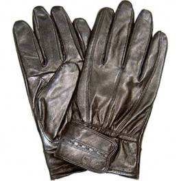 Men's Black Leather Gloves with Fleece Liner