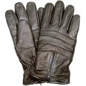 Men's Black Leather Motorcycle Gloves