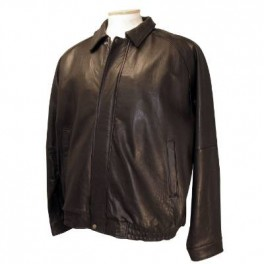 Mens Black Bomber Leather Jacket