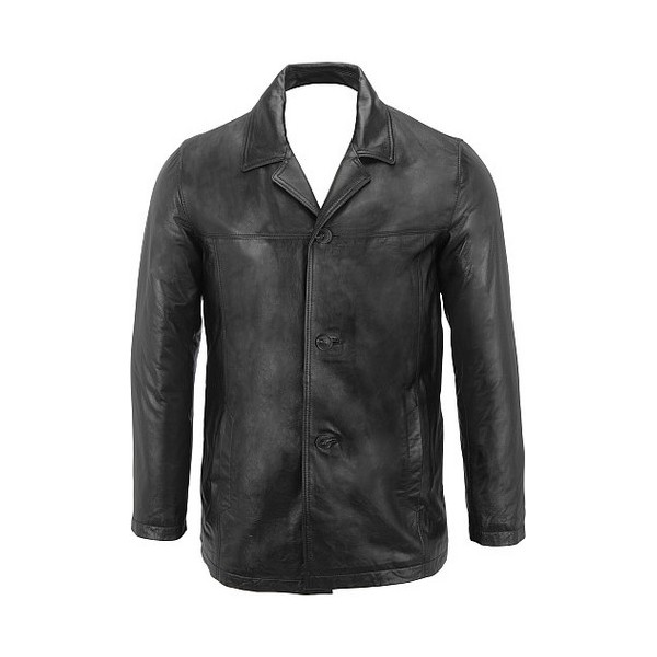 Leather Car Coat Men | Down Coat