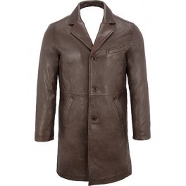 Designer Leather Coat