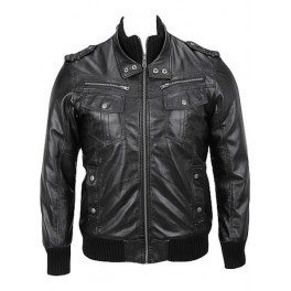 Classic Mens Leather Jacket