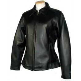 Bikestar Womens Black Naked Leather Motorcycle Jacket