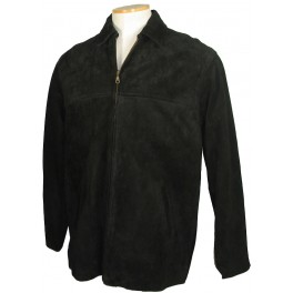 Men's Black Cow Suede Jacket