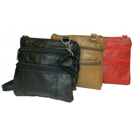 Lambskin Leather Casino / Travel Pouch