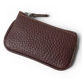 Leather Coin Purse with key-ring (small)