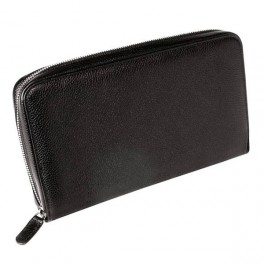 Leather travel wallet with zip