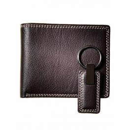 Leather wallets with key chain