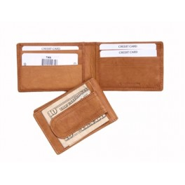 Slim Wallet With Magnetic Money Clip