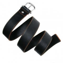 Leather Belt With Single Stitching.