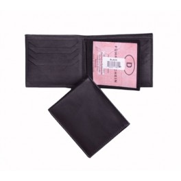 Center Flap Bi Fold Wallet