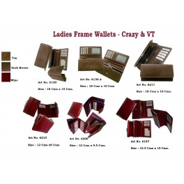 Ladies Frame Wallets Crazy and VT