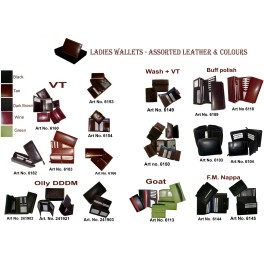 Ladies Leather Wallets Assorted Leather and Colors