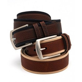 Brown and Black Leather Belts. European style