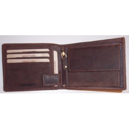 Men's wallet with squre loop 9.5 x 12.5 cms. Cow hunter