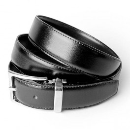 Men's classic leather belt Black