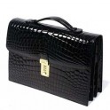 Crocodile Leather Briefcase Bag- Premium