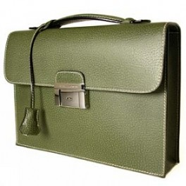 Elegant Leather Briefcase, with key lock