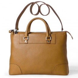 Leather Tote bag with top handle. Leather laptop Bag