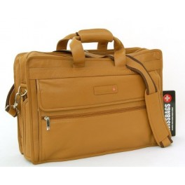 Tanned Leather Laptop Bag