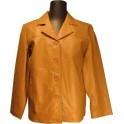 Womens Double Lapel Leather Jacket in Multiple Colors