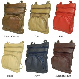 Cowhide Leather Messenger Bag Deluxe Colors