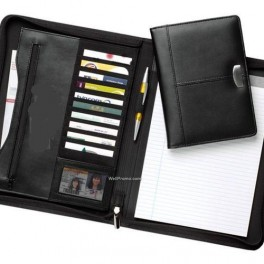 Leather Folder with Card Holders