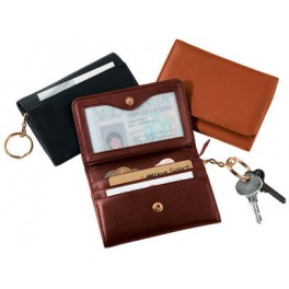 Keychain leather wallets