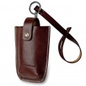 Leather cell phone holder