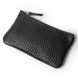 Leather coin purse with key-ring (medium)