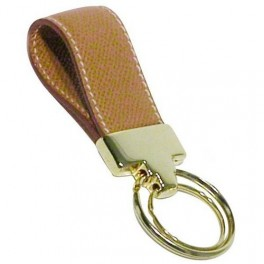 Ring Leather keychain