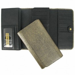 Cheque book with card holder