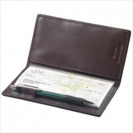 Cheque book holder with Pen slot