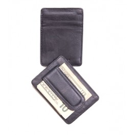 Slim Wallet With Magnetic Money