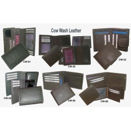 Cow Wash Leather Wallets