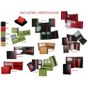 Goat Leather Wallets Assorted Colors