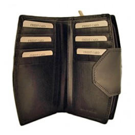 Ladies Wallet with multiple card slots, compartments