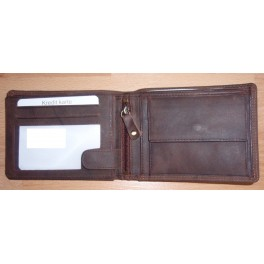 Men's wallet closed size 9.5 x 12 cms -Cow Hunter, card slots & coin pocket