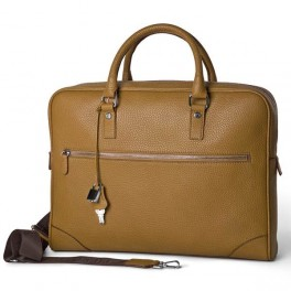 Leather Soft Case executive bag with external pocket