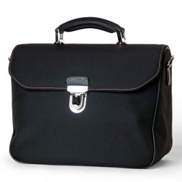 Leather soft-sided flap men's bag- Premium