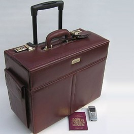 Leather Pilot Bag. Briefcase Leather Bag